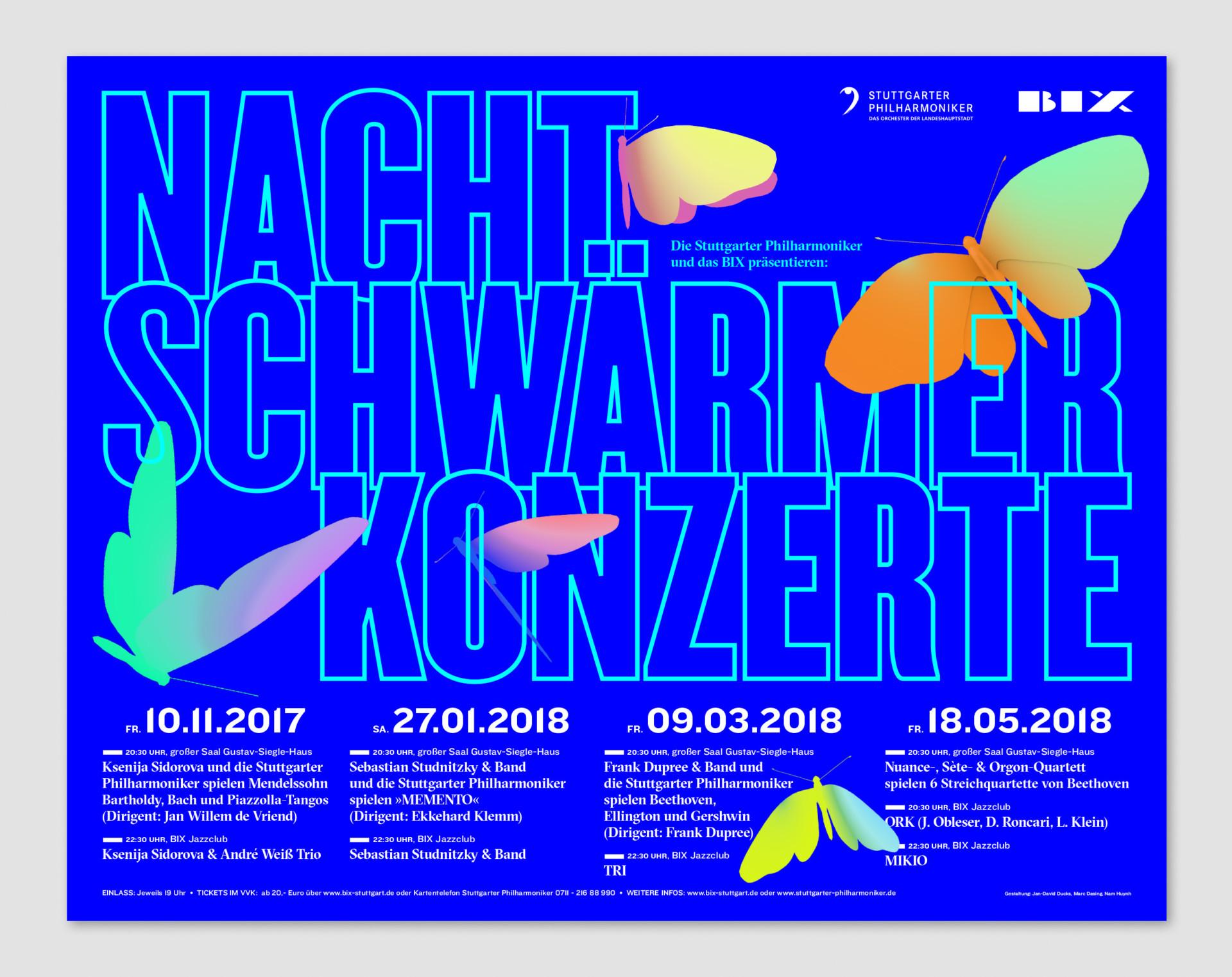 Jan Ducks Poster, Nachtschwaermer